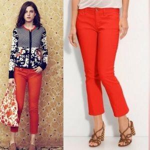 Tory Burch | Orange Cropped Skinny Jeans Size 27